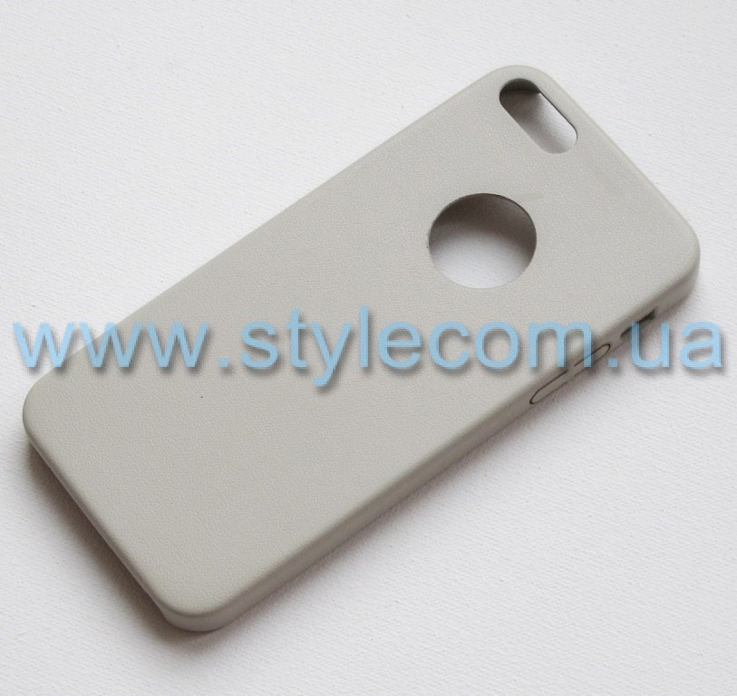 Накладка Кожа iPhone 4 light grey