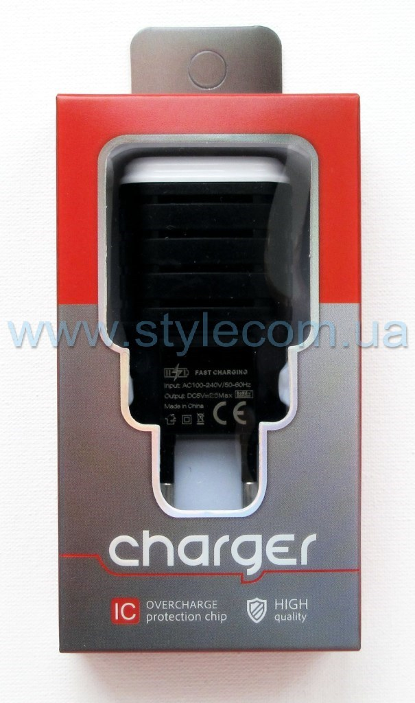 СЗУ CHARGER adapter 2USB 2.1A white - Фото 2