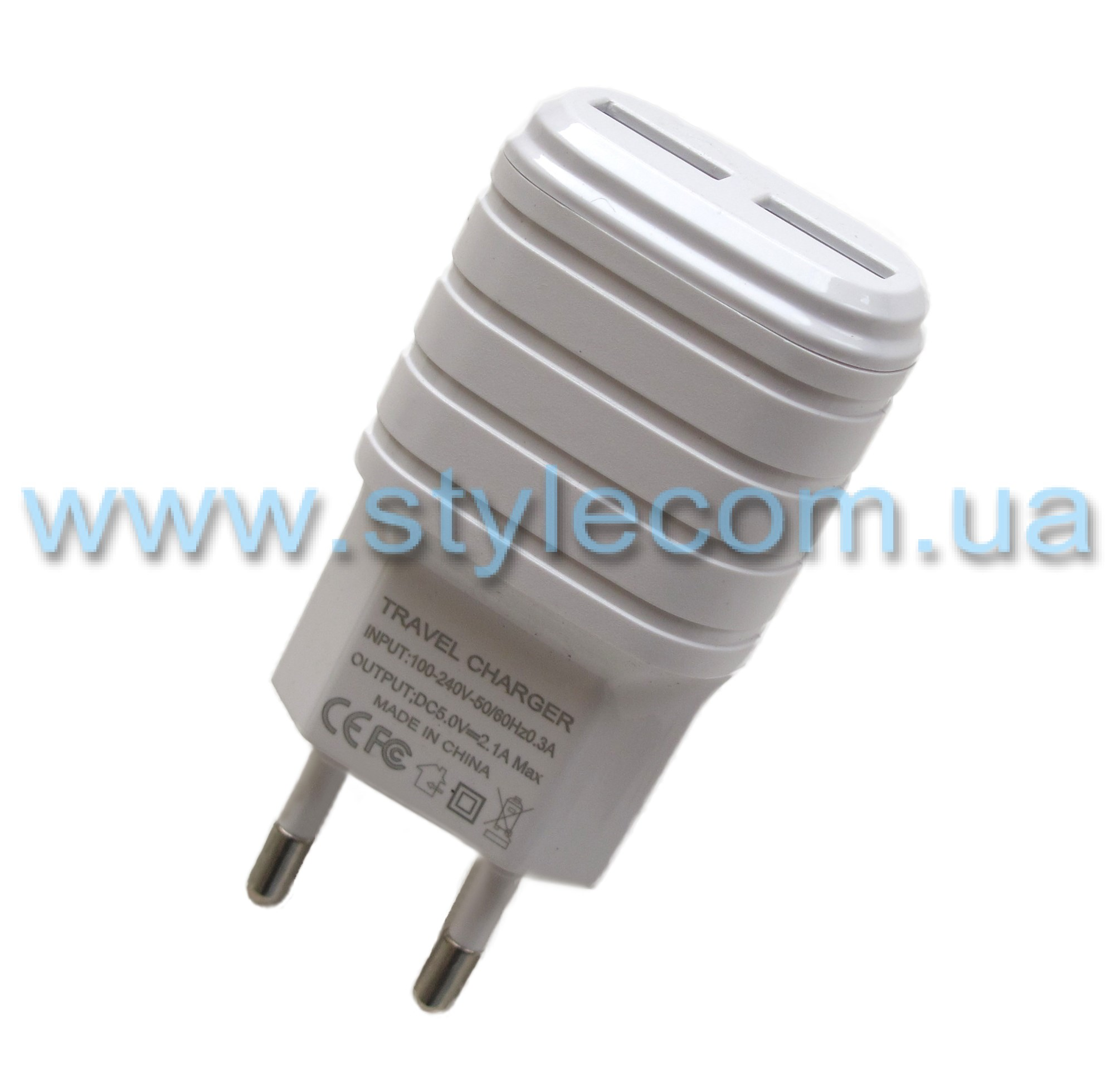 СЗУ CHARGER adapter 2USB 2.1A white - Фото 1