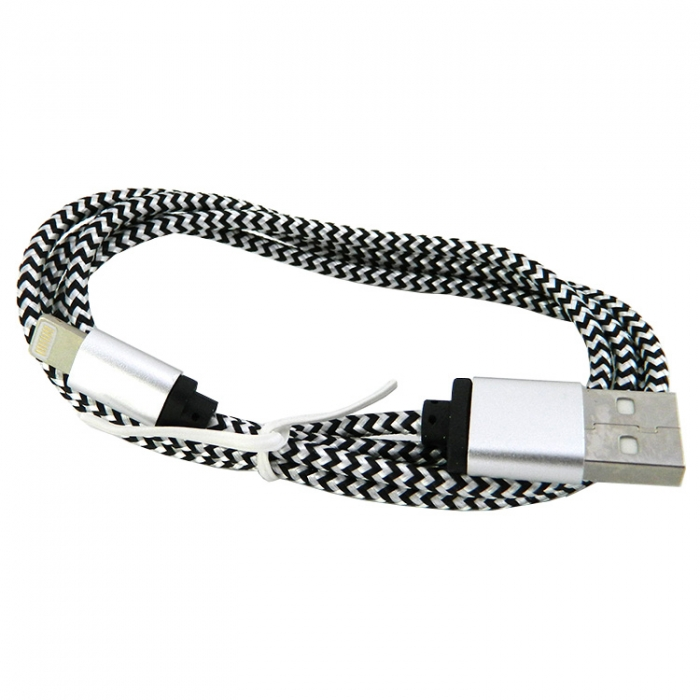 USB cable WALKER C310 iPhone 5 white/black - Фото 1